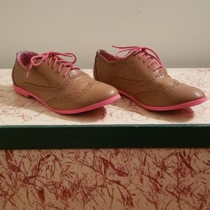 Pink and Brown Oxfords